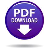 Pdf web icon violet round button Royalty Free Stock Images