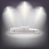 Pódio iluminado dos vencedores do negócio Fotos de Stock Royalty Free