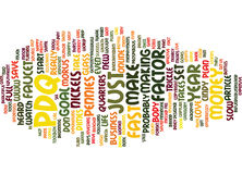 The Pdq Factor Text Background  Word Cloud Concept Royalty Free Stock Photography