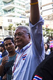 PDRC leader Suthep Thaugsuban continue the shutdown Bangkok camp Stock Photography