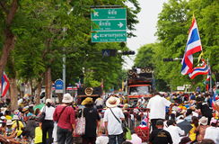 PDRC Thai protesters Royalty Free Stock Photo