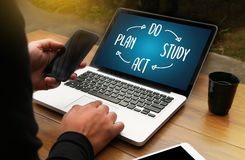 PDSA - Plan Do Study Act  , Encouragement Time to Act Motivation Stock Photography