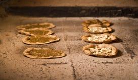 półdupków śniadaniowego jedzenia libański manakish Oriental Obrazy Stock