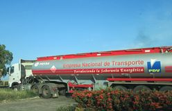 PDVSA Truck Royalty Free Stock Images