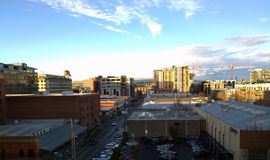 PDX Skyline. View from the Pearl District facing north Royalty Free Stock Photo