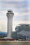 PDX-Verkehrssteuerungs-Turm Lizenzfreies Stockfoto