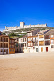 Peñafiel castle panoramic Royalty Free Stock Images