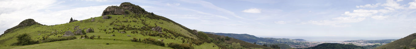 Peñas de Aya panoramic view Stock Photo