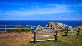 Peñas-Kap, Asturien Spanien lizenzfreies stockbild