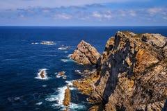 Peñas udde, Asturias Spanien arkivfoto