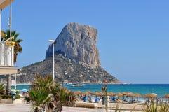 Peñon de Calpe, Alicante, Espagne photo stock