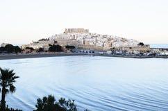 PeñÃscola (Castellon) entre a terra e o mar Fotografia de Stock