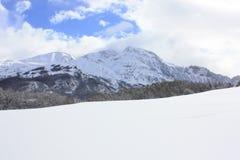 Peña Blanca, snowed góry, Pyrenees Fotografia Royalty Free