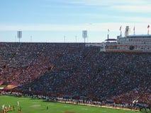 pełny stadion podczas dopasowania obrazy stock