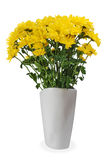Peça central amarela do arranjo do ramalhete da flor Fotos de Stock Royalty Free