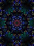 Peça central brilhante vívida azul da estrela dos azuis celestes Imagem de Stock Royalty Free