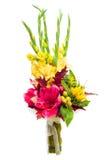 Peça central colorida do arranjo do ramalhete da flor Imagens de Stock Royalty Free