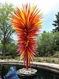 Peça central de Chihuly em Denver Botanical Gardens imagens de stock royalty free