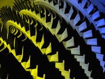 Peça colorida velha da hidro turbina fotografia de stock royalty free