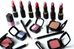 Peça cosmética para a beleza da face foto de stock