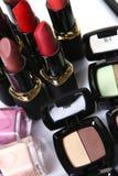 Peça cosmética para a beleza da face imagem de stock