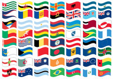 Peça da bandeira nacional de um jogo cheio Foto de Stock