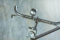 Peça da bicicleta velha do vintage usada como ilustrações imagem de stock