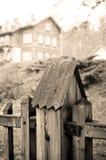 Peça da cerca no estilo retro Fotografia de Stock Royalty Free