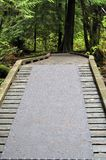 Peça da entrada de uma ponte de passeio Fotografia de Stock