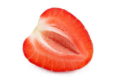 Peça da morango isolada Imagem de Stock