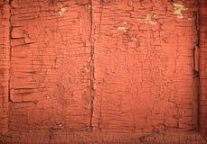 Peça da parede vermelha velha fotos de stock