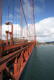 Peça da ponte de porta dourada Imagens de Stock