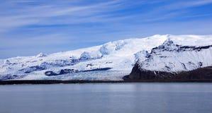 Peça de Breidarlon da geleira de Vatnajokull em Islândia do leste imagens de stock