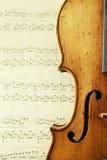 Peça de um violino antigo Fotografia de Stock