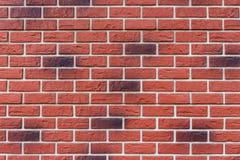 Peça de uma parede de tijolo vermelho fotografia de stock