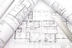 Parte do projeto arquitectónico imagens de stock