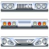 Peça do carro do vetor dianteiro e traseiro ilustração do vetor