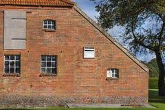 Peça do leste velha da casa da quinta do Frisian imagem de stock royalty free