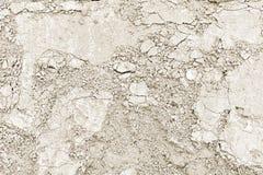 Peça do muro de cimento com emplastro fraco da construção velha toning imagem de stock royalty free