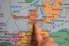 Peça do ` s da mostra do dedo de Europa Imagens de Stock
