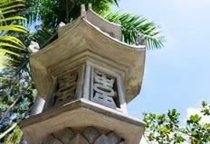 Peça do templo budista da porta arquitetónica em Vietname coluna Foto de Stock Royalty Free