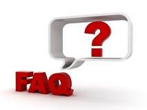 Peça freqüentemente o conceito da pergunta ilustração royalty free
