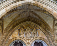 Peça fundamental da escultura da catedral de Salisbúria foto de stock