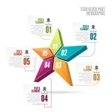 Peça Infographic do bloco da estrela Fotografia de Stock