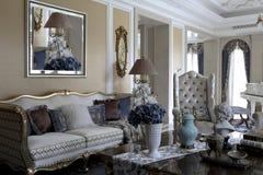 Peça luxuoso da sala de estar fotografia de stock