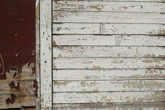 Peça pequena da cerca velha suja Fotografia de Stock
