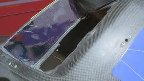 Peça sobresselente automotivo do carbono video estoque