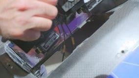 Peça sobresselente automotivo do carbono vídeos de arquivo