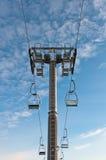 Peça superior da sustentação do ski-lift imagens de stock