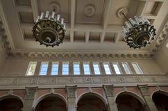 Peça superior do salão railway da estação do truque fotografia de stock royalty free